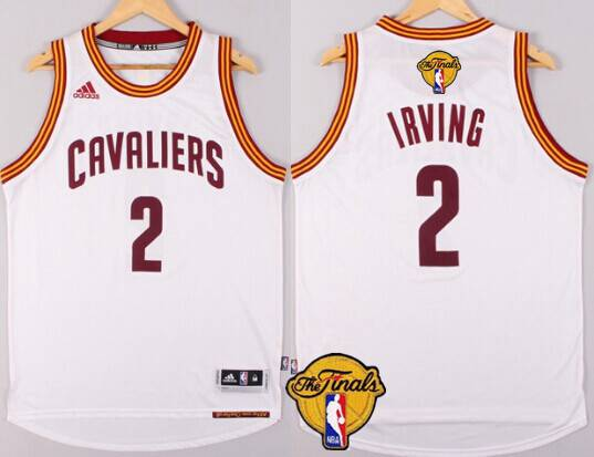 Men Cleveland Cavaliers 2 Kyrie Irving 2016 The NBA Finals Patch White Jersey