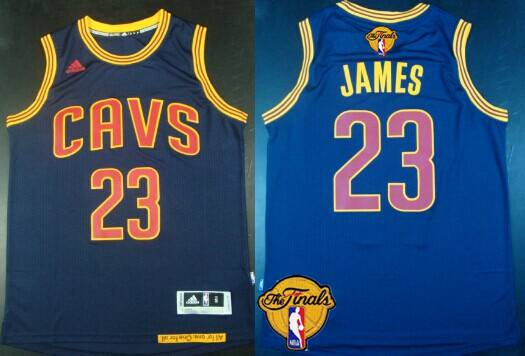 Men Cleveland Cavaliers 23 LeBron James 2016 The NBA Finals Patch Navy Blue Jersey