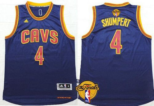Men Cleveland Cavaliers 4 Iman Shumpert 2016 The NBA Finals Patch Navy Blue Jersey