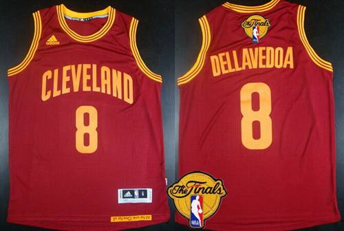Men Cleveland Cavaliers 8 Matthew Dellavedova 2016 The NBA Finals Patch Red Jersey
