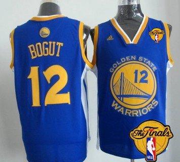 Men Golden State Warriors 12 Andrew Bogut Blue 2016 The NBA Finals Patch Jersey