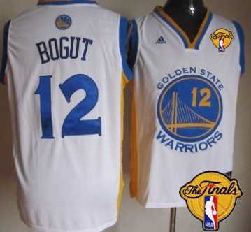 Men Golden State Warriors 12 Andrew Bogut White 2016 The NBA Finals Patch Jersey