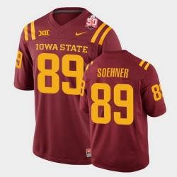 Men Iowa State Cyclones #89 Dylan Soehner 2021 Fiesta Bowl Cardinal College Football Jersey