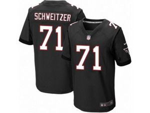 Men Nike Atlanta Falcons #71 Wes Schweitzer Elite Black Alternate NFL Jersey