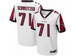 Men Nike Atlanta Falcons #71 Wes Schweitzer Elite White NFL Jersey