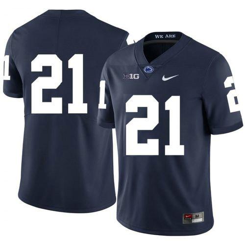Men Penn State Nittany Lions #21 Noah Cain Navy Football Jersey