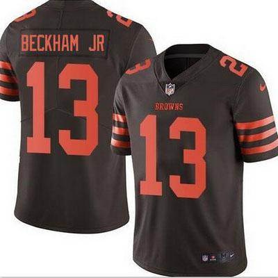 Mens Cleveland Browns #13 Odell Beckham Jr Color Rush Jersey