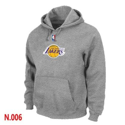 Mens Los Angeles Lakers L.Grey Pullover Hoodie