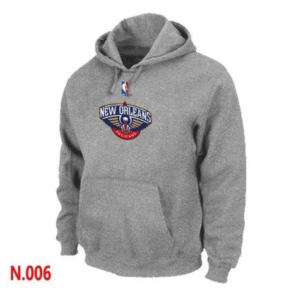 Mens New Orleans Pelicans L.Grey Pullover Hoodie