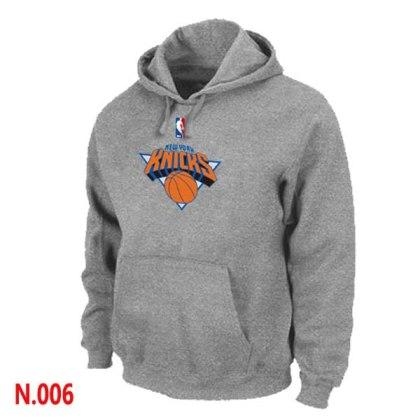 Mens New York Knicks L.Grey Pullover Hoodie