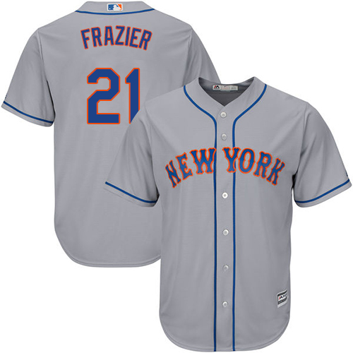 Mets #21 Todd Frazier Grey Cool Base Stitched Youth MLB Jersey