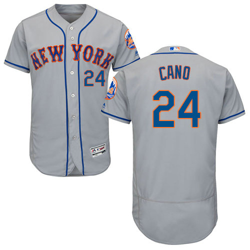 Mets #24 Robinson Cano Grey Flexbase Authentic Collection Stitched Baseball Jersey