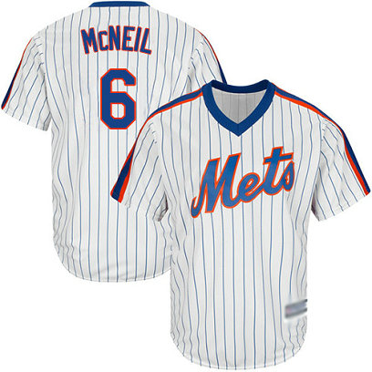 Mets #6 Jeff McNeil White(Blue Strip) Alternate Cool Base Stitched Youth Baseball Jersey