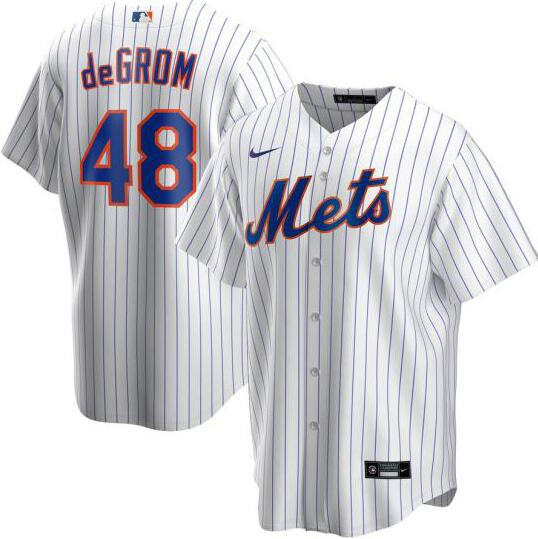 Mets 48 Jacob DeGrom White 2020 Nike Cool Base Jersey