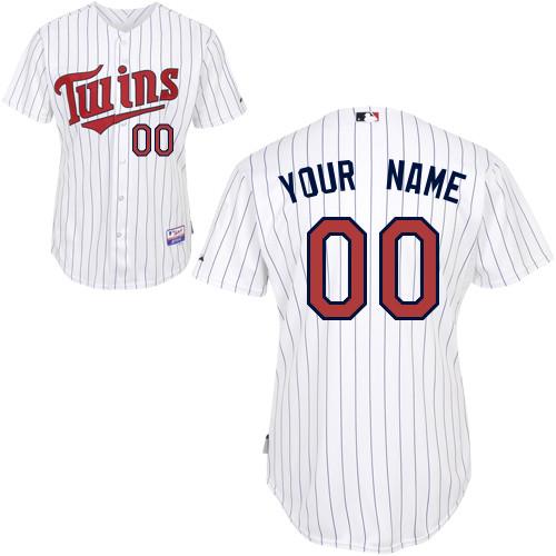 Minnesota Twins Personalized custom white strip Jersey