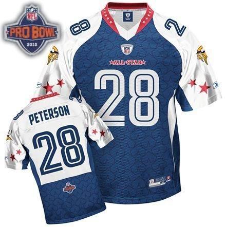 Minnesota Vikings #28 Adrian Peterson 2010 Pro Bowl NFC