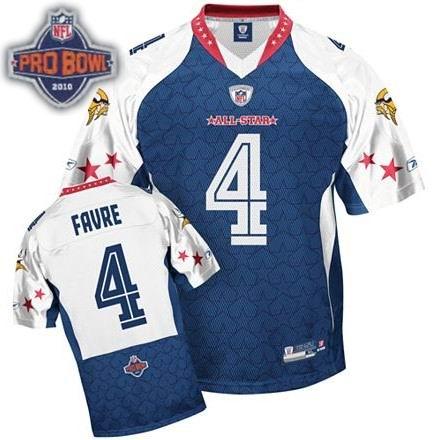 Minnesota Vikings #4 Brett Favre 2010 Pro Bowl NFC