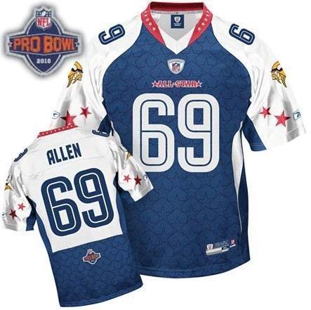 Minnesota Vikings #69 Jared Allen 2010 Pro Bowl NFC