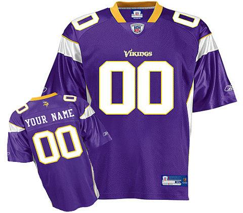 Minnesota Vikings Customized Team Color Jerseys