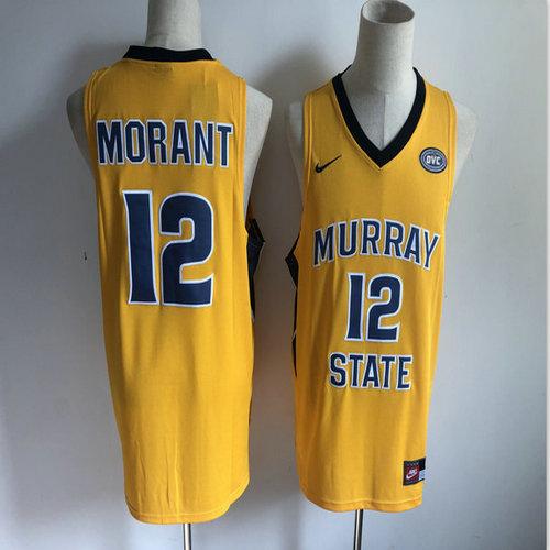 Murray State 12 Ja Morant Yellow Nike College Basketball Jersey