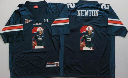NCAA Auburn Tigers #2 Cam Newton Blue fashion jerseys