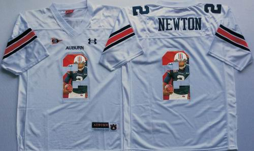 NCAA Auburn Tigers #2 Cam Newton White fashion jerseys