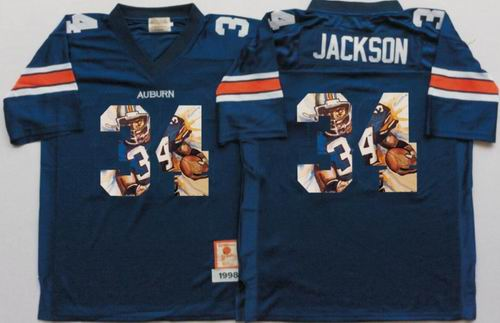 NCAA Auburn Tigers #34 Bo Jackson Blue fashion jerseys
