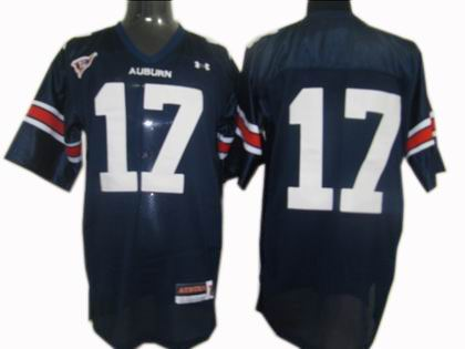 NCAA Under Armour Auburn Tigers #17 Football Jersey Navy Blue