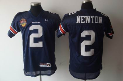 NCAA Under Armour Auburn Tigers 2# newton d.k blue CHAMPIONSHIP jersey