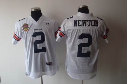 NCAA Under Armour Auburn Tigers 2# newton white CHAMPIONSHIP jersey