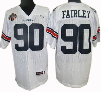 NCAA jerseys Under Armour South #90 Fairley white