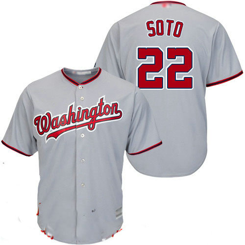 Nationals #22 Juan Soto Grey New Cool Base Stitched Baseball Jersey