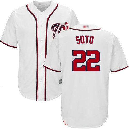 Nationals #22 Juan Soto White New Cool Base Stitched Baseball Jersey