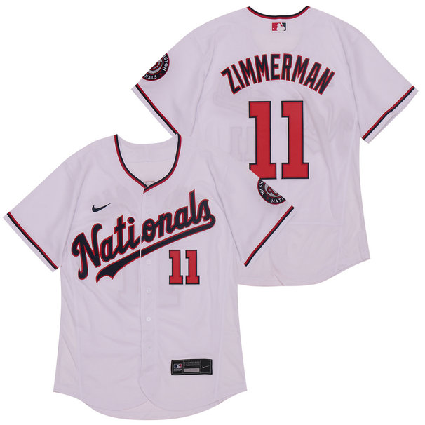 Nationals 11 Ryan Zimmerman White Nike 2020 Flexbase Jersey