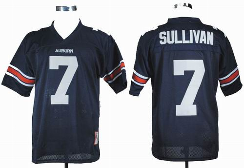 Ncaa Auburn Tigers Pat Sullivan 7 Navy Blue College Football Throwback Jersey