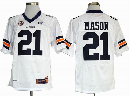 Ncaa Auburn Tigers Tre Mason 21 white Football Authentic Jerseys