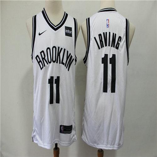 Nets 11 Kyrie Irving White Nike Swingman Jersey