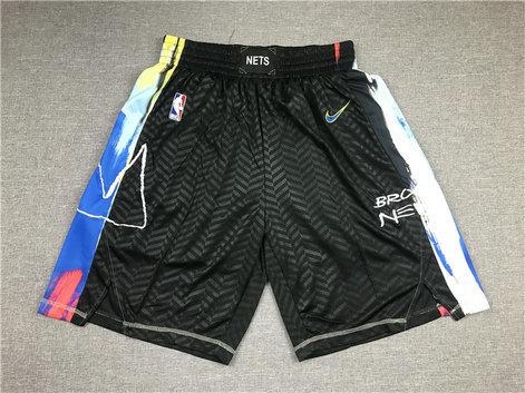 Nets Teams Black City Edition Swingman Shorts