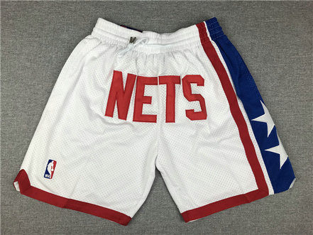 Nets White Nike Swingman Mesh Shorts