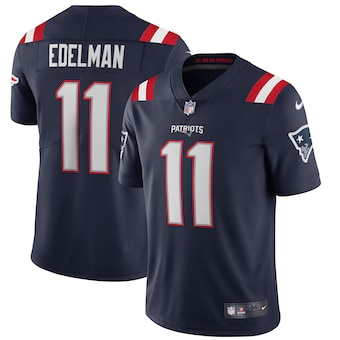 New England Patriots #11 Julian Edelman Men's Nike Navy 2020 Vapor Limited Jersey