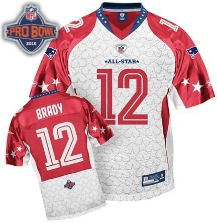 New England Patriots #12 Tom Brady 2010 Pro Bowl AFC