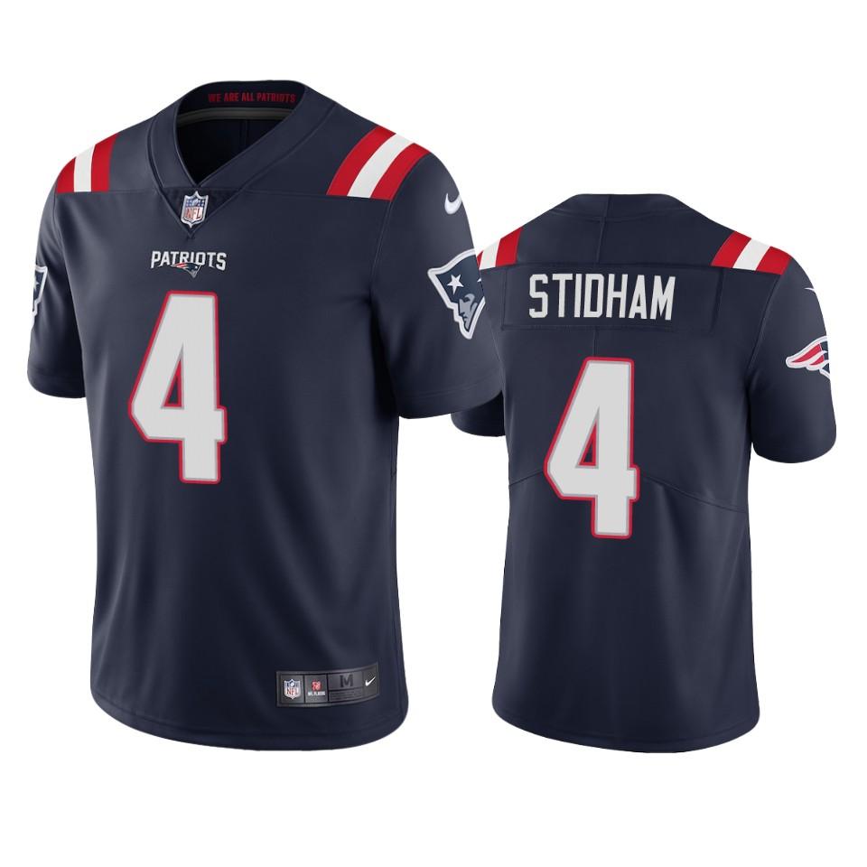 New England Patriots #4 Jarrett Stidham Men's Nike Navy 2020 Vapor Limited Jersey
