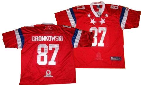 New England Patriots #87 Rob Gronkowski red 2012 Pro Bowl Jerse