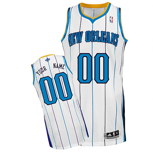 New Orleans Hornets Personalized custom White Jersey (S-3XL)