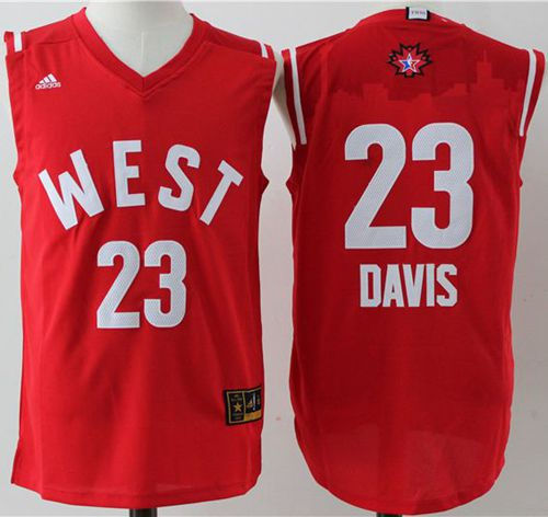 New Orleans Pelicans 23 Anthony Davis Red 2016 All Star NBA Jersey