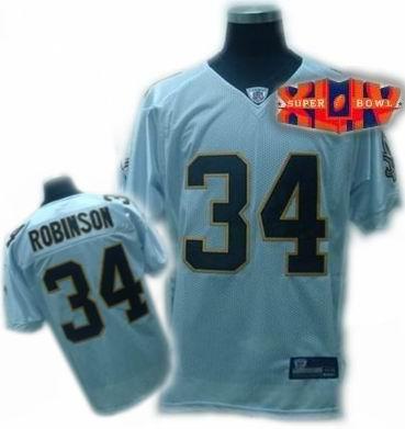 New Orleans Saints #34 Patrick Robinson white Jerseys 2010 super bowl jeresys