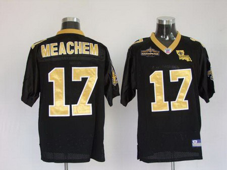 New Orleans Saints 17 Robert Meachem black Champions patch