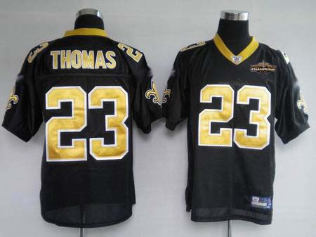 New Orleans Saints 23 THOMAS black Jerseys Champions patch