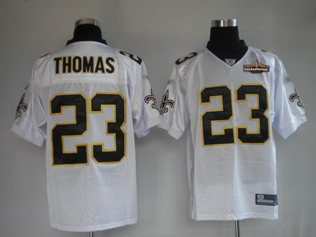 New Orleans Saints 23 THOMAS white Jerseys Champions patch