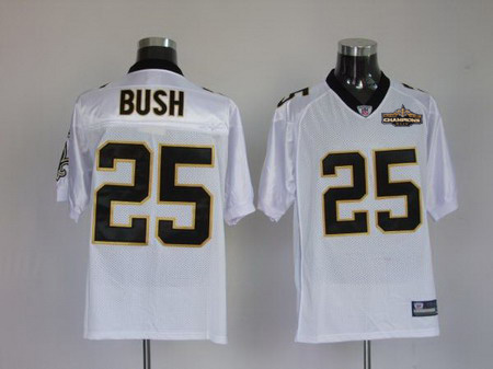 New Orleans Saints 25 Reggie Bush White Champions patch